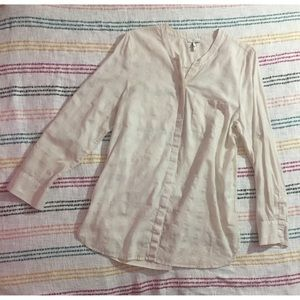 Used Medium Joie Button Up Collarless Top